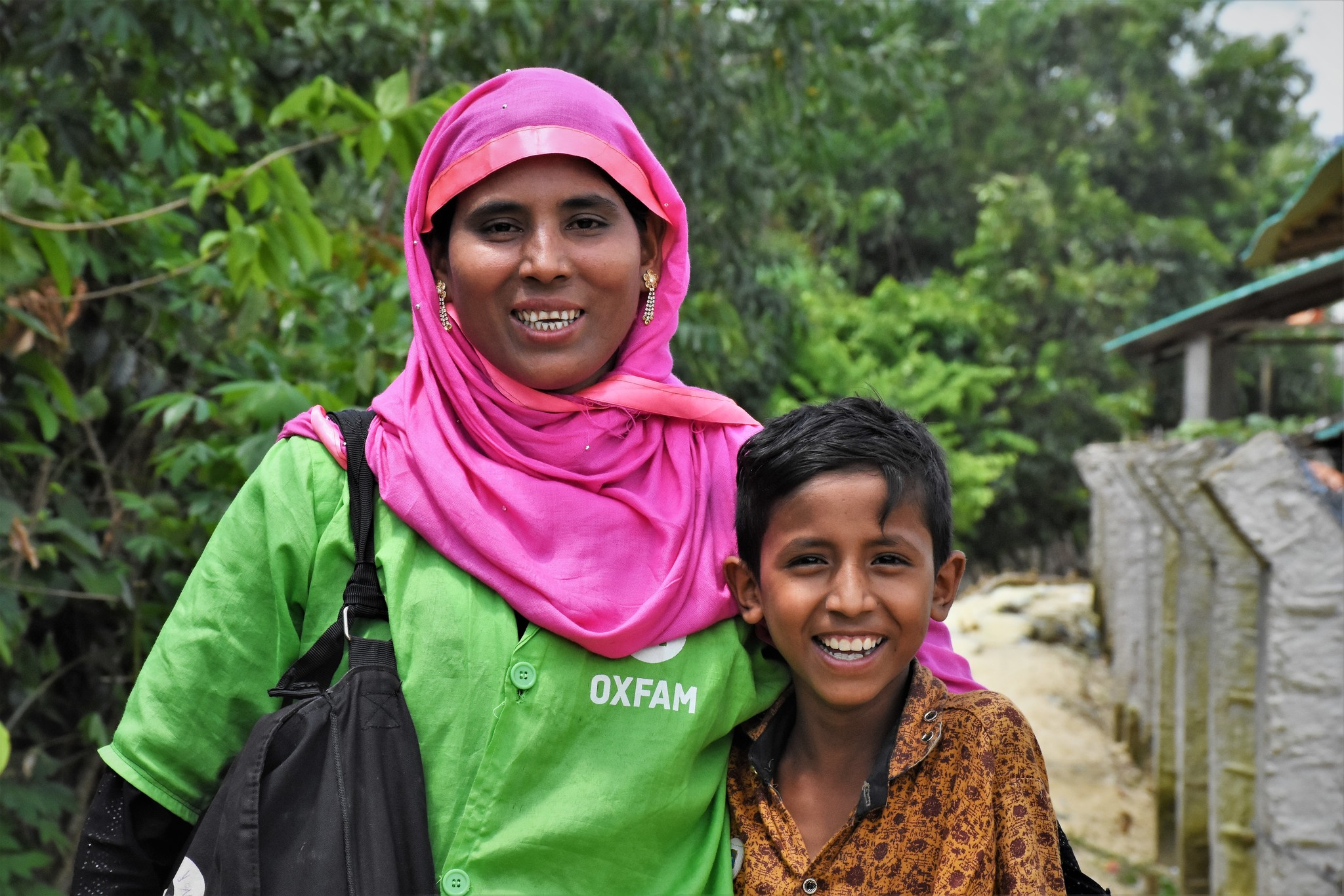 Minara*, 28, watched the play with her son Ershad*, 10