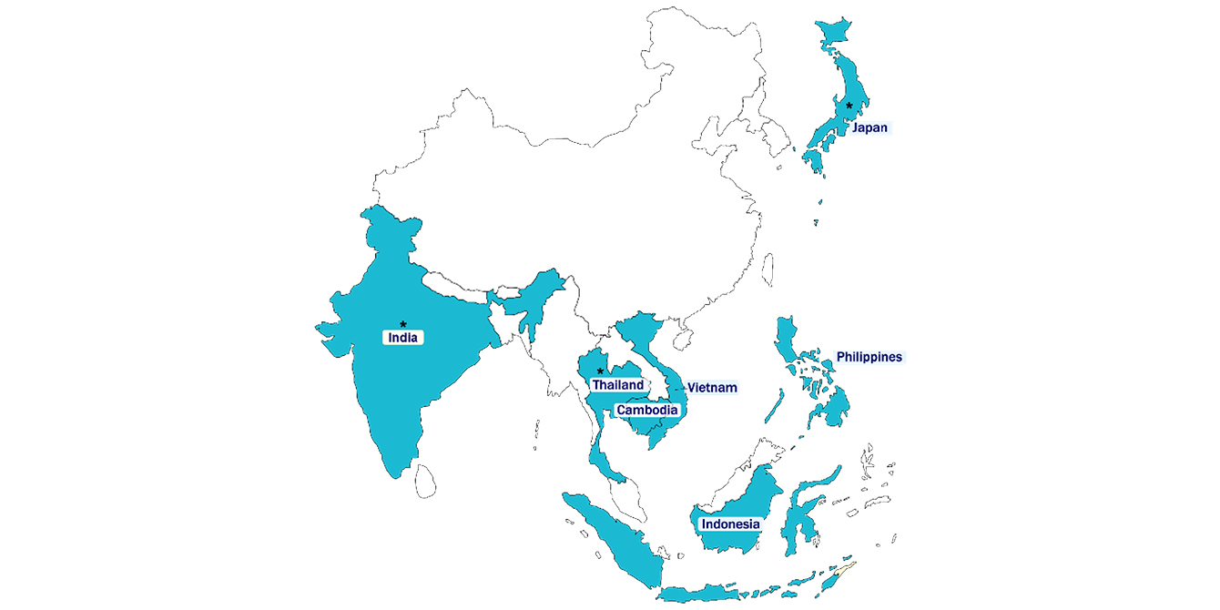 Oxfam - Fair Finance Asia - Map
