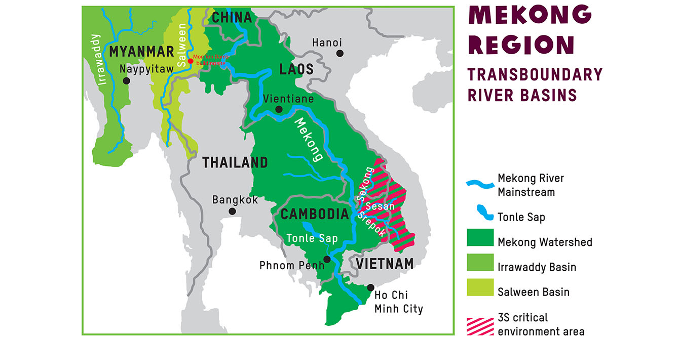 Oxfam in Asia - Water Governance - Mekong Transboundary River Basins - Map