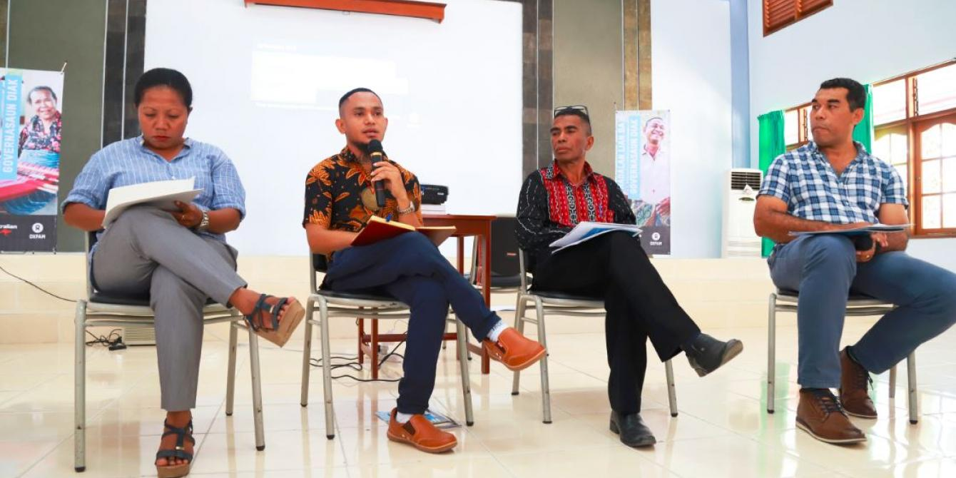 The Launch of Oxfam in Timor-Leste's program, 'Strengthening Voices for Pathways in Good Governance' in Dili, Timor-Leste on 26 September 2019.