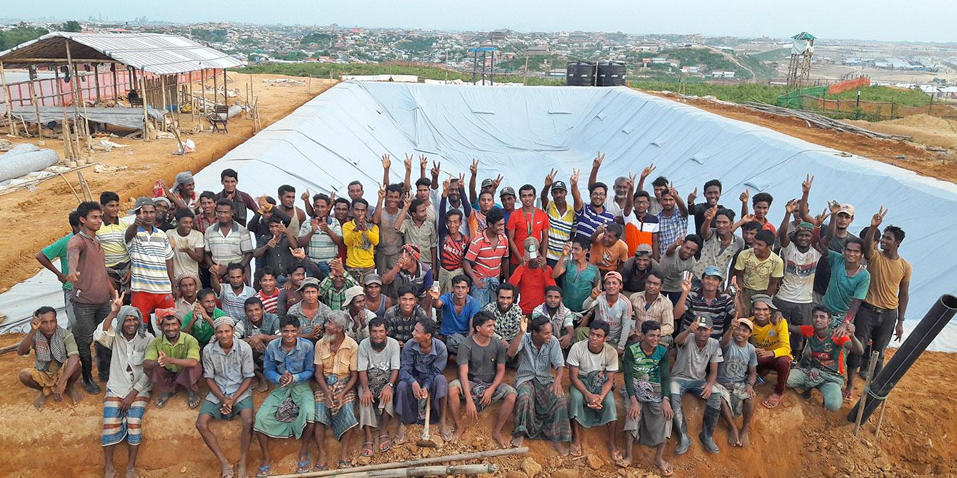 Oxfam in Asia - Press Release - Biggest-ever waste treatment plant in a refugee camp