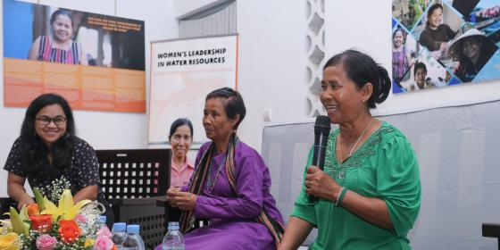 "BREAK THROUGH HER ""CHALLENGES""- WOMEN LEADER IN WATER GOVERNANCE"