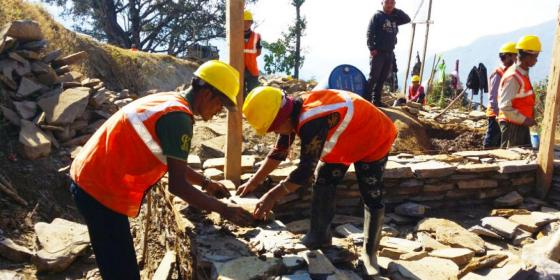 Oxfam in Asia - Publications - Nepal - Training Skilled Masons for Reconstruction
