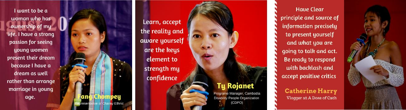 Young women confidence