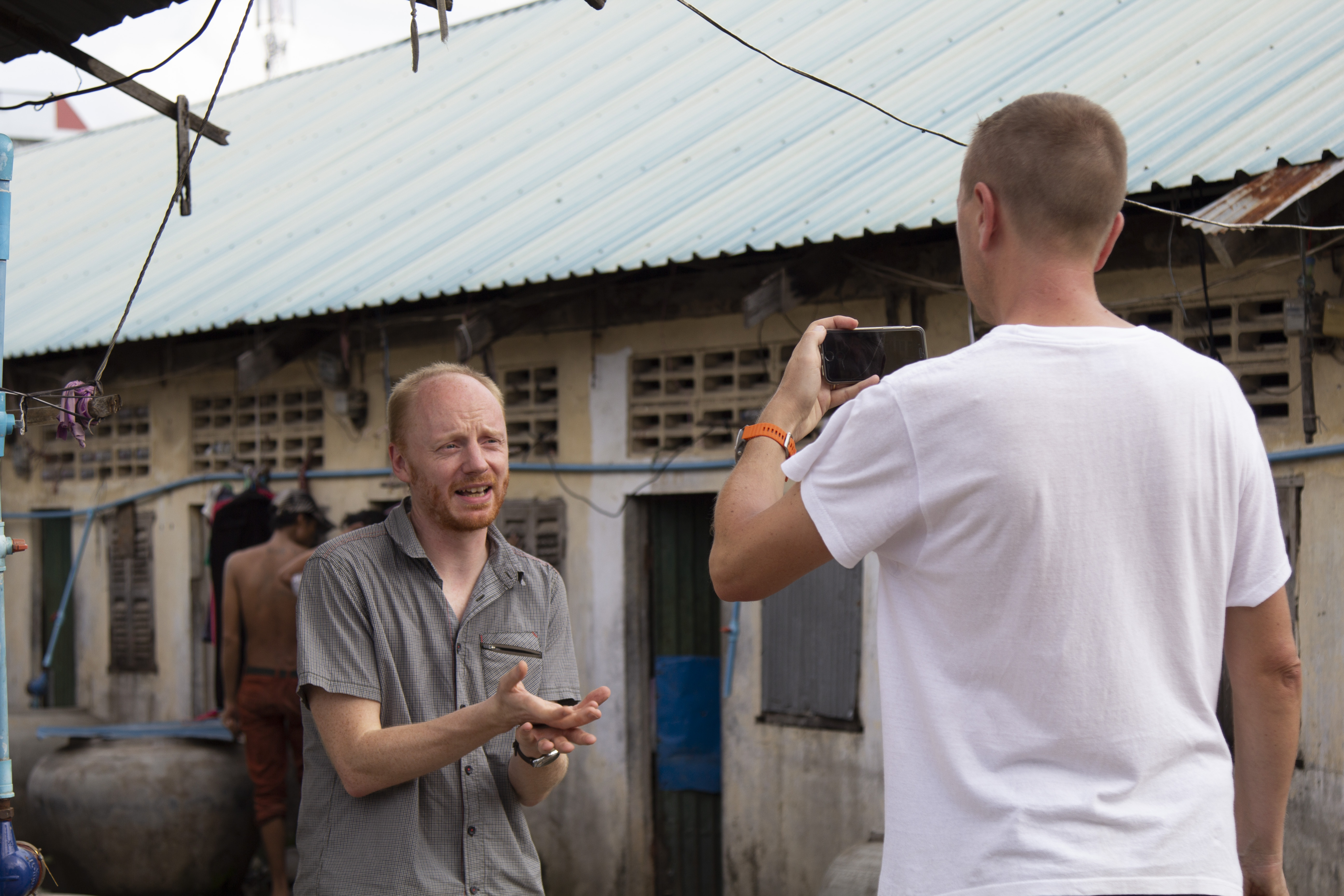 Interview with media, life of informal workers in Cambodia
