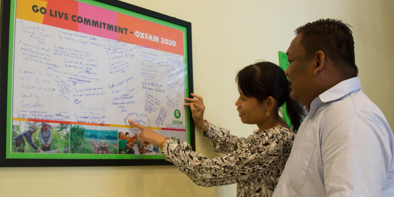 Oxfam 2020 commitment