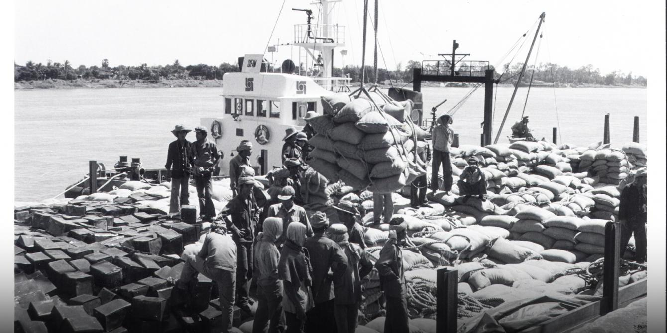In 1979 Oxfam leads a massive effort to get food aid to Cambodia after the fall of the Khmer Rouge