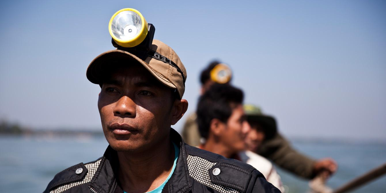 Srey Peak, 38 years old farmer and a leader of the patrolling team in Sambor district, Kratie province.