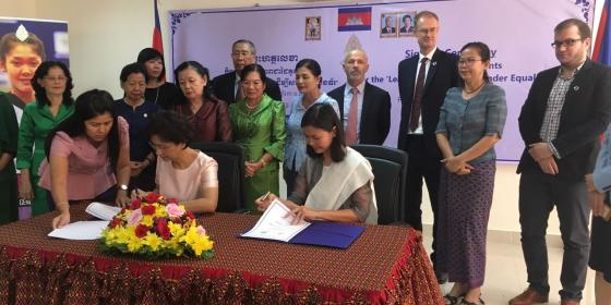 "Signing Ceremony: Partnership Agreement for Supporting the Implementation ""Leading the Way for Gender Equality (LWGE) Program"""