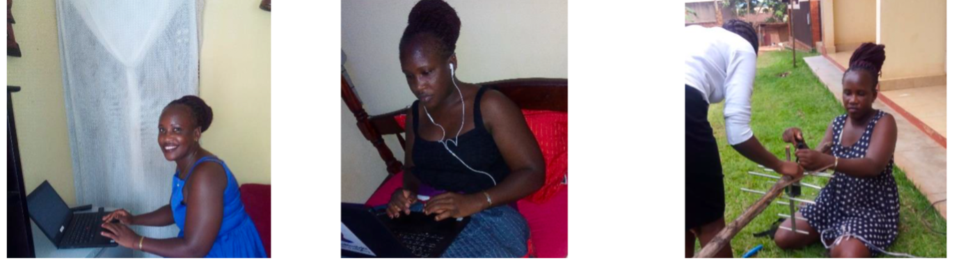 Peace Immaculate Chandini – Project Coordinator at Oxfam in Uganda, adjusting to working from home.