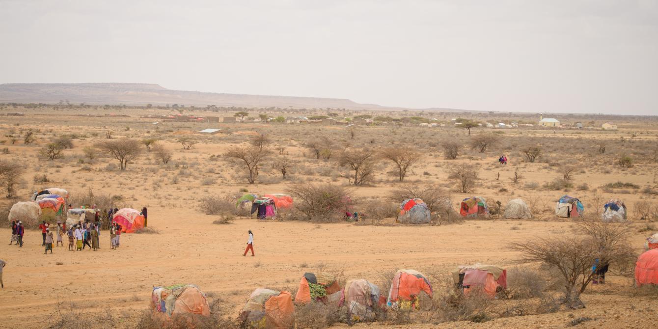 An aerial shot of an IDP camp in Somaliland. Allan Gichigi/Oxfam