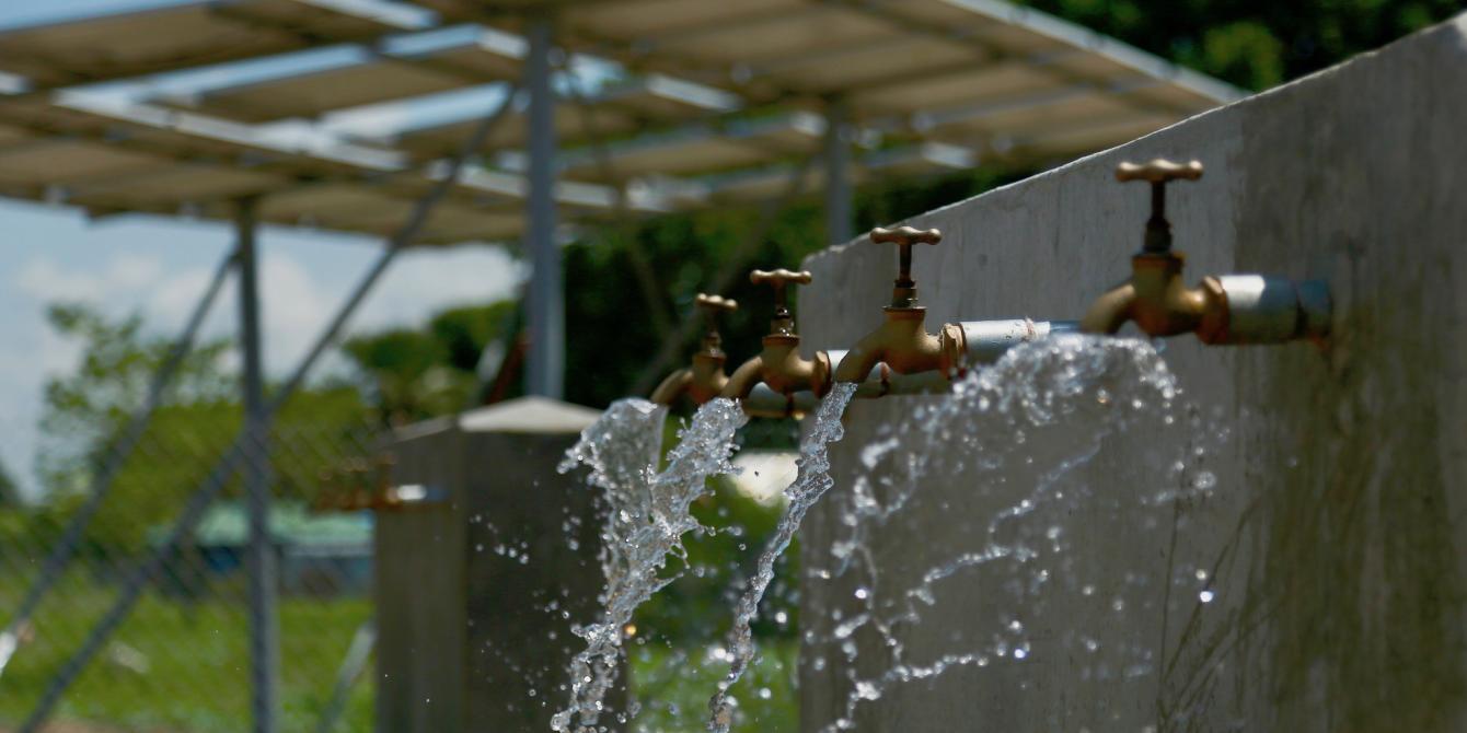 Oxfam has built a new solar-powered water treatment plant in South Sudan's capital, Juba. David Lomuria / Oxfam