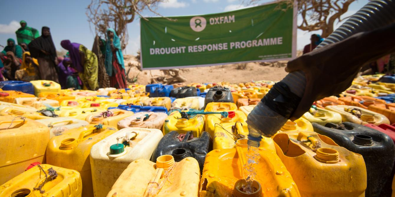 Oxfam supplying clean water to thousands of people affected by an unprecedented drought in Fadhi Gaab IDP camp, northern Somaliland. Allan Gichigi / Oxfam