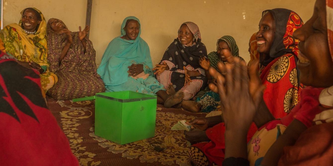Women members of the Saving for Change group in El Fasher village in North Darfur. Elizabeth Stevens / Oxfam