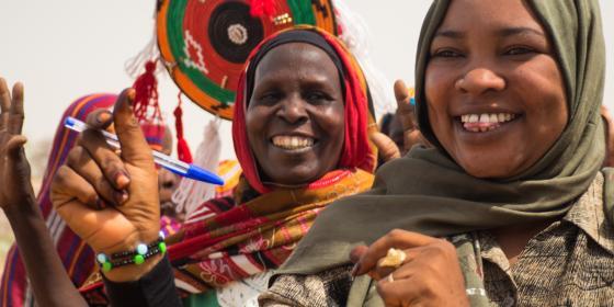 Women in Sudan. Elizabeth Stevens/Oxfam