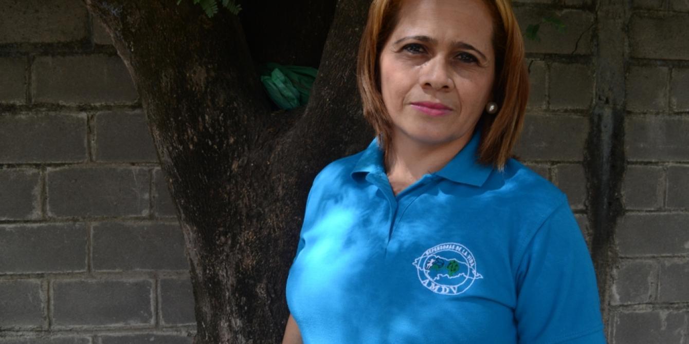 Etelbina Betanco, 39, coordinadora de la Asociación Mujeres Defensoras de la Vida (AMDV). Alejandro Quinn / Oxfam en Honduras.