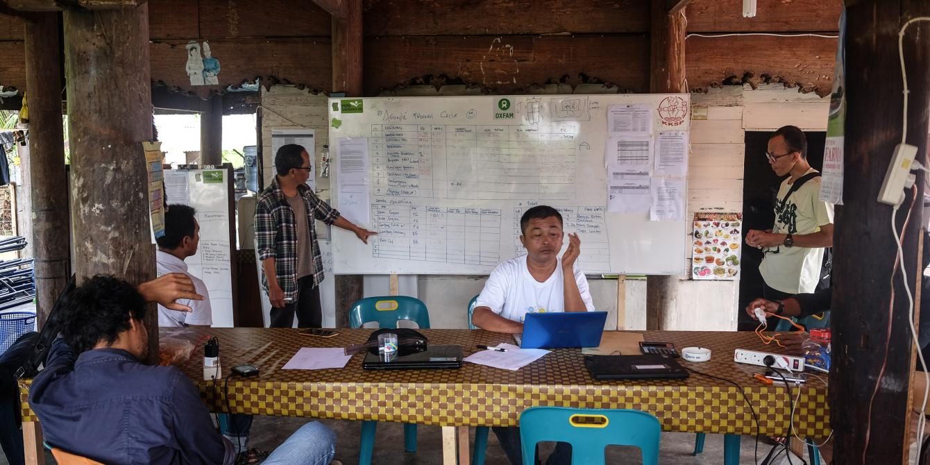 Suasana Kantor Rumah Belajar Harmoni Kebencanaan (RBHK), Pidie Jaya, Daerah Istimewa Aceh, Senin (20/2). Credit Foto: Eka Nickmatulhuda for Oxfam