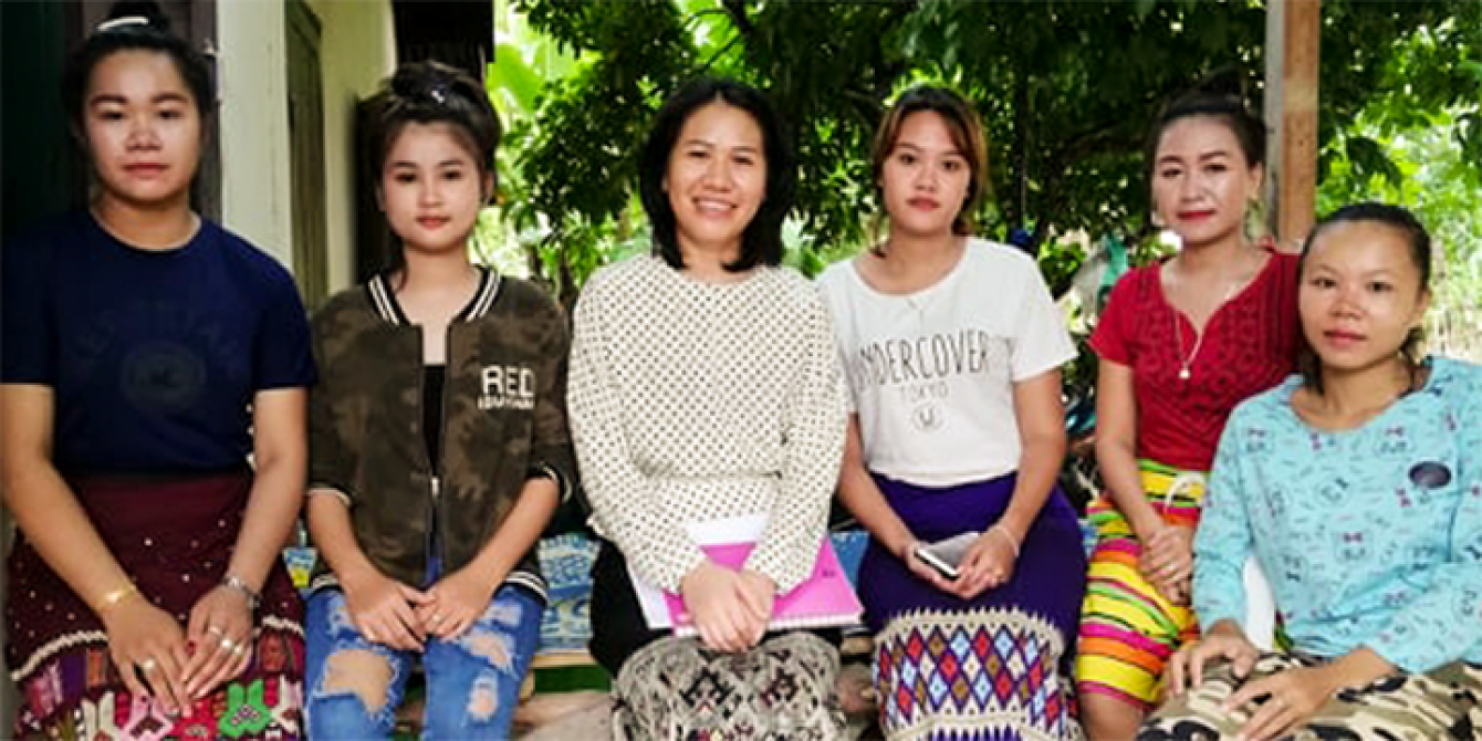 A group of young women from Thasommor Village