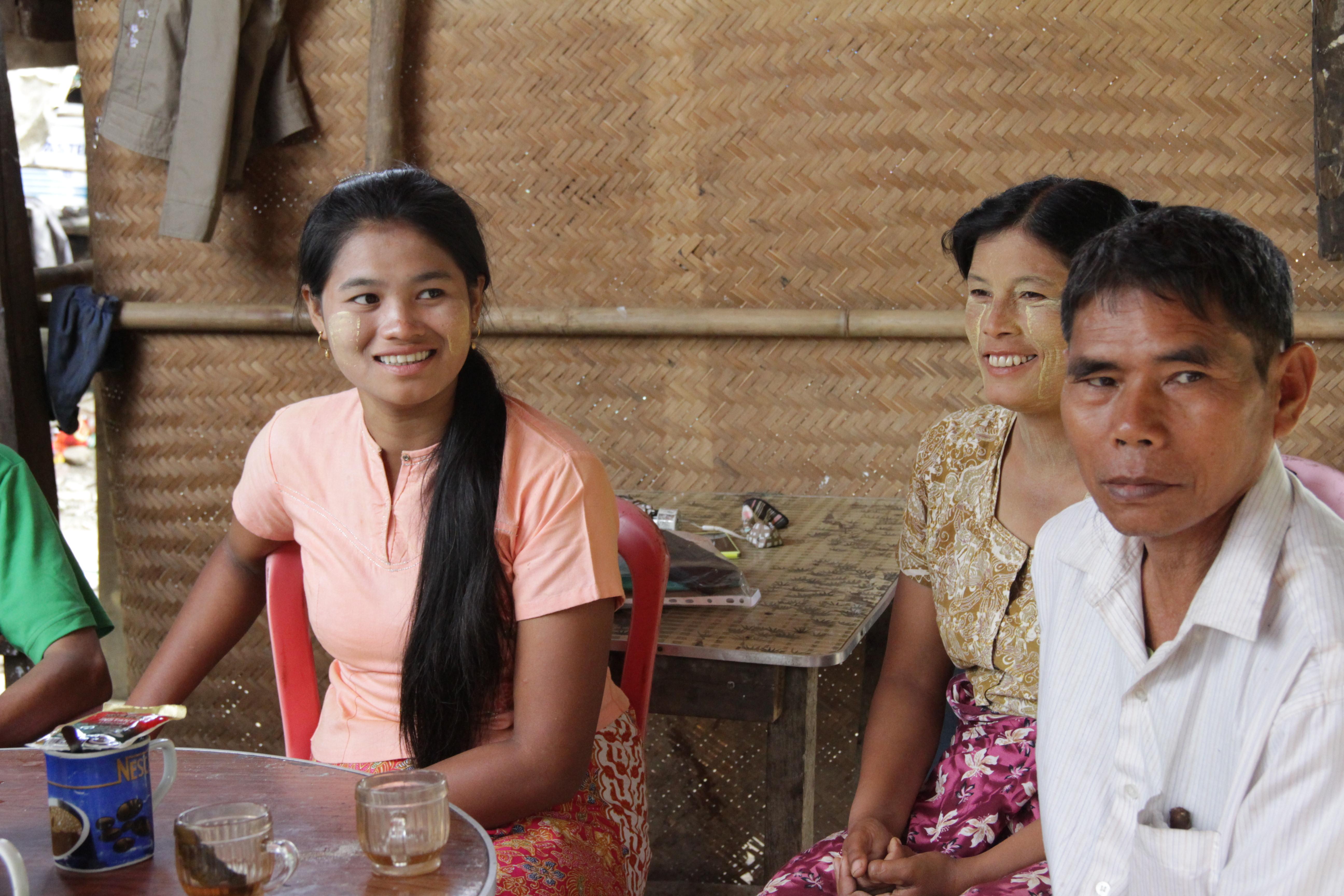 Khin Khin Chan, a village woman from Thit Pote Taung village in Kyauk Phyu, Rakhine State. Photo by: Yu Lwin Soe/ Oxfam