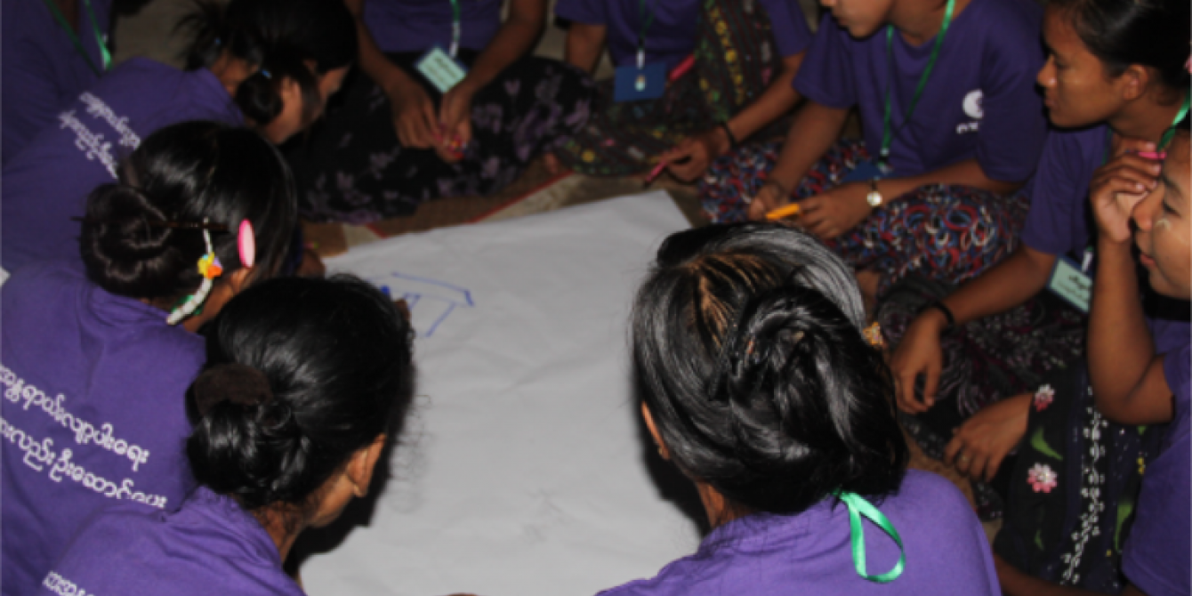 Local Women participants in the disaster risk management training