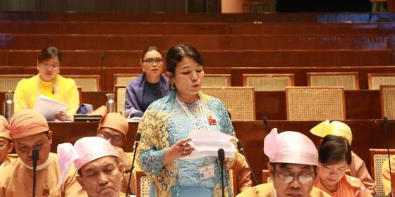 Ma Kyi Pyar in the parliament