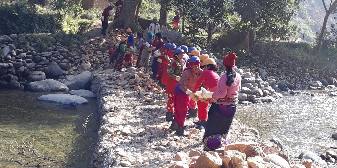 Cash for work in Nuwakot