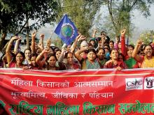 District based land rights forums organise sit ins to demand Joint Land Ownership - Credit: CSRC