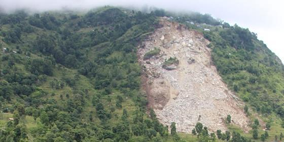 The landslide at Ree village of Dhading