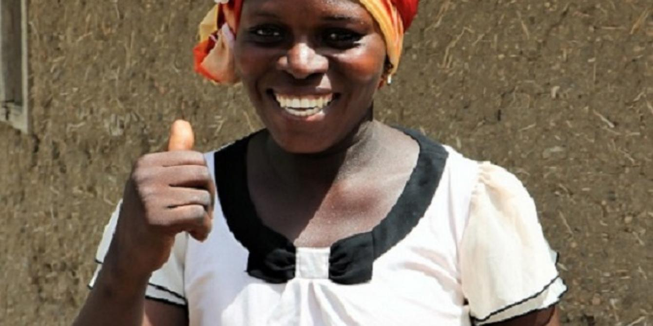 Murbege Gilman, a female beneficiary of PROACT project