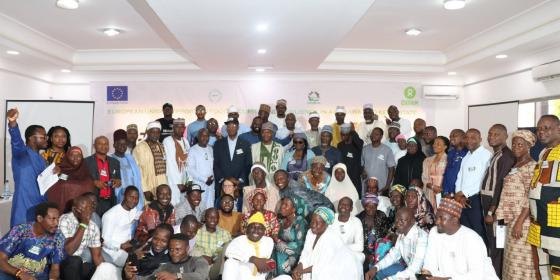 Group Photo of participants at the Annual Review Meeting in Yola, Adamawa State. Photo: Oxfam/James Bigila
