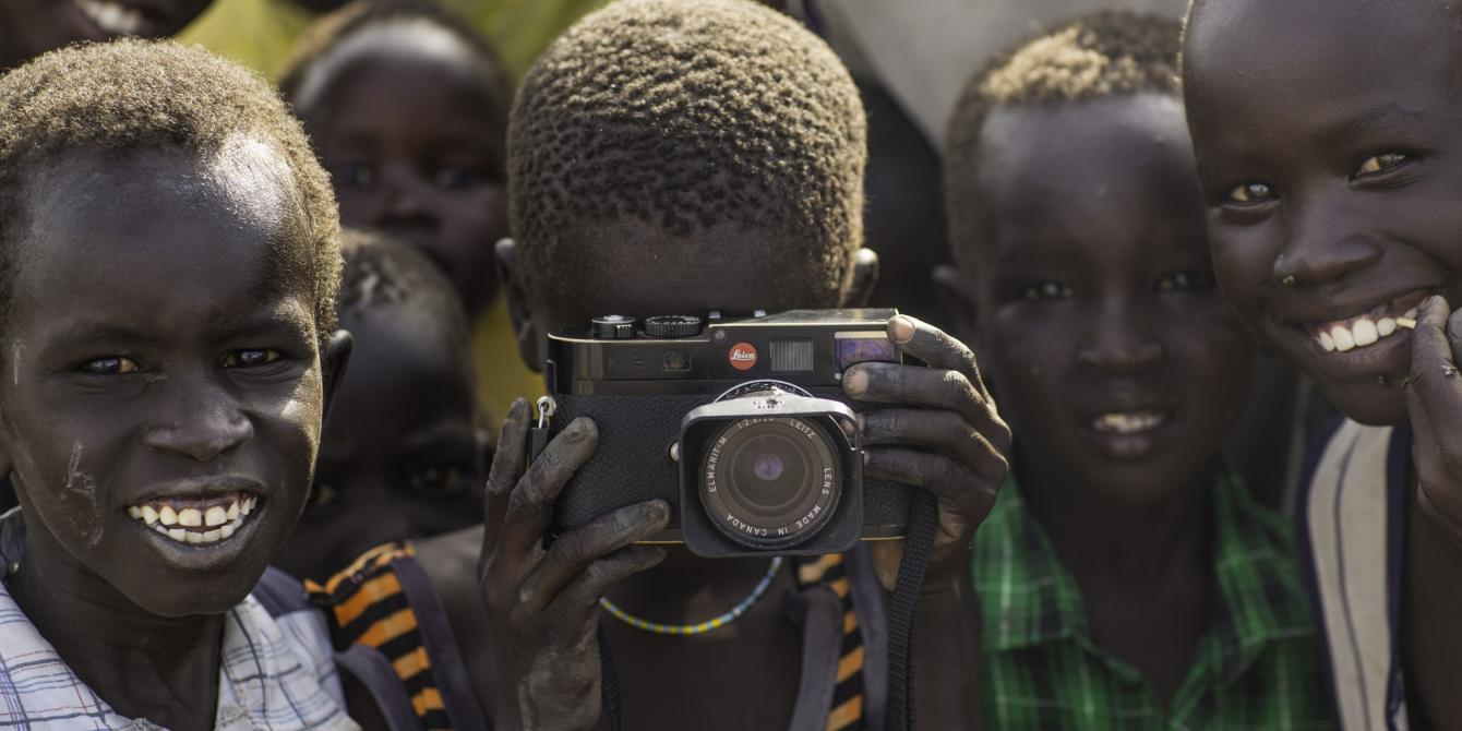 Children in a camp of Internally Displaced Persons in South Sudan