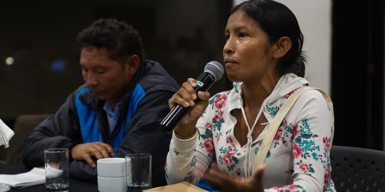 """""""Hacia una ciudadanía amazónica diversa, agronegocios, territorio y la vivencia Sikuani en Colombia"""" / Olga Bonilla y Arturo Muñoz (Resguado de Guayamayas- Mamiyare, Colombia)."""
