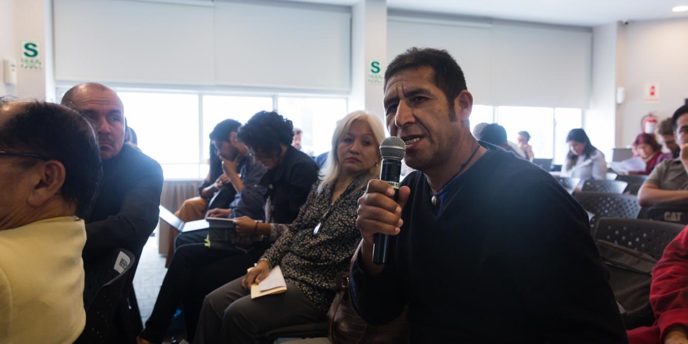 """El Foro Internacional """"Agronegocios, Medio Ambiente y Derechos Humanos"""" tuvo varios momentos de preguntas y respuestas entre los participantes y expositores."""
