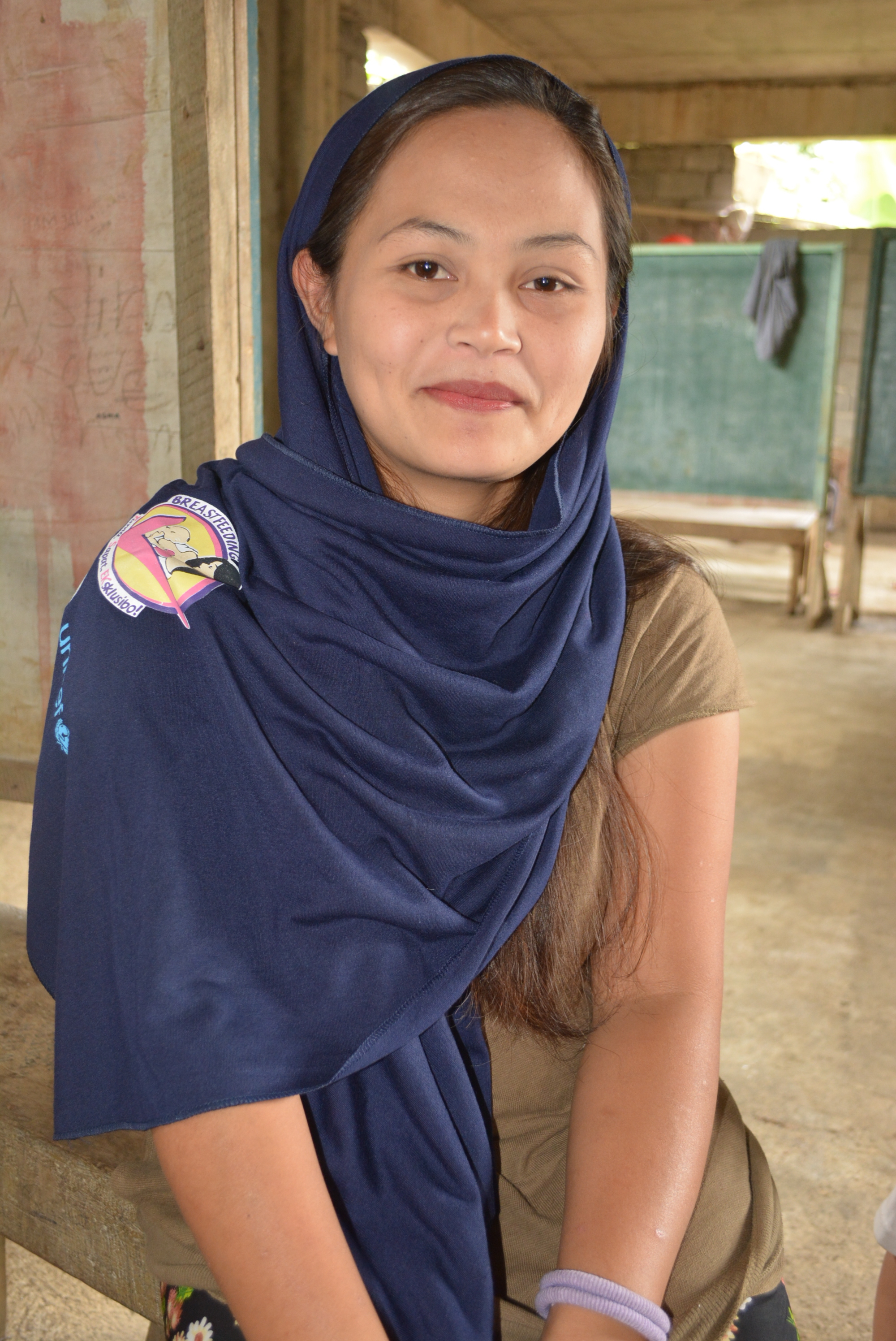 Sitinor, 23, is a young mother displace by the Marawi siege