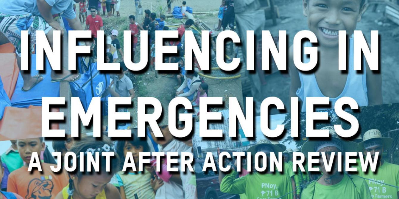 Cover Photo of Influencing in Emergencies Publication (Graphics: Oxfam)