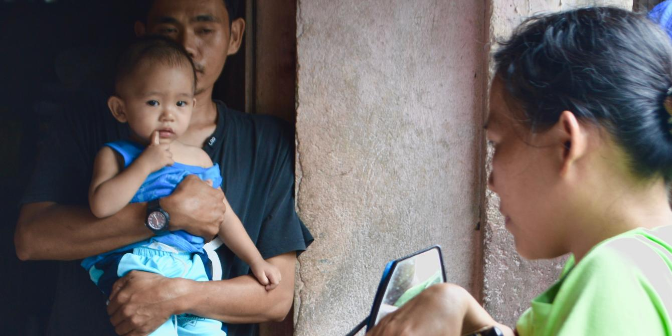 Jackilyn, 39, inside her house in Barangay Dugui Too