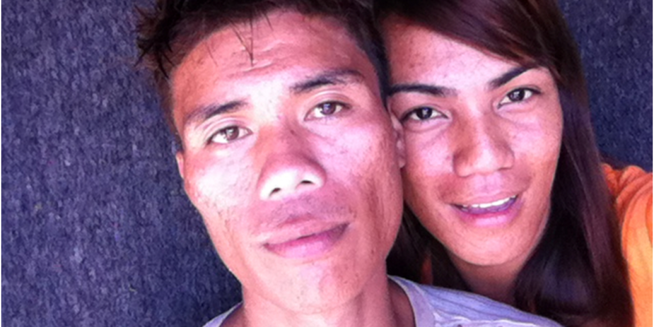Joel (26) and May May (25) in their house in Anibong. (Photo: May May/Oxfam)