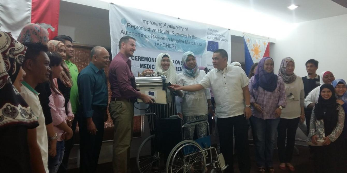 Ceremonial Turnover of Reproductive Health Medical Equipment in ARMM by the ARCHES project. (Photo by Lizel Mones/Oxfam)