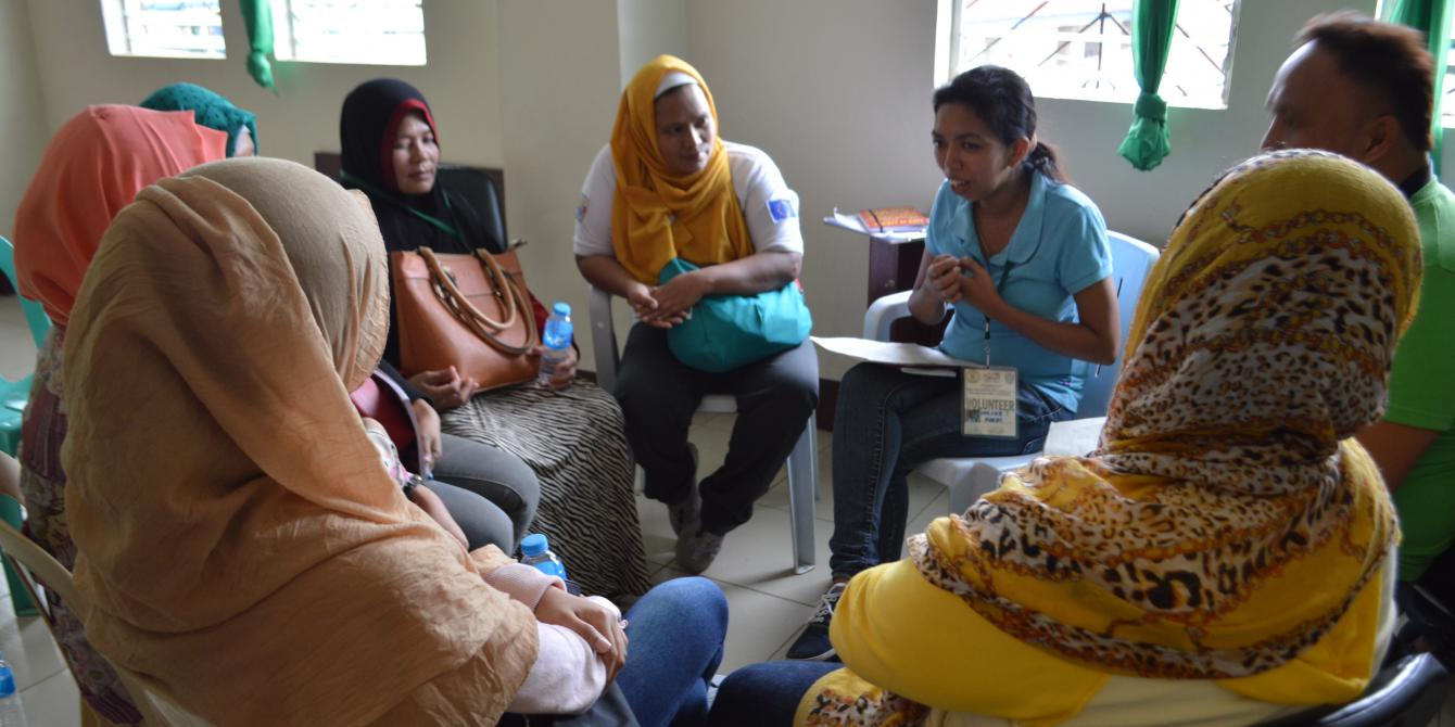 UnYPhil-Women, psychosocial, Marawi response, Saguiaran