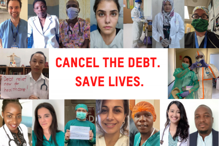 Cancel the debt so doctors and nurses can keep saving lives