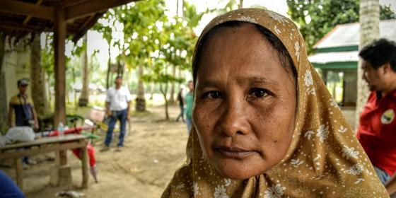 A woman from Tukalipnao in Mamasapano, Mindanao (Photo: Rhea Catada/Oxfam)