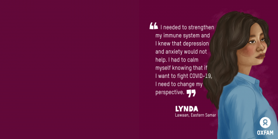 Lynda, HBCC Stigma Stories (Illustration: Vina Salazar/Oxfam)