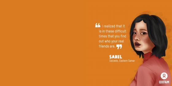 Sabel, HBCC Stigma Stories (Illustration: Vina Salazar/Oxfam)