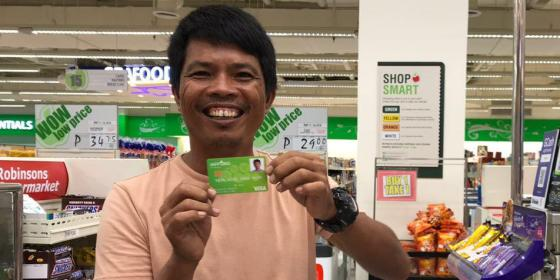 Hassan purchases using the iAFFORD PayMaya prepaid card