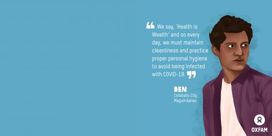 Ben, HBCC Stigma Stories (Illustration: Vina Salazar/Oxfam)