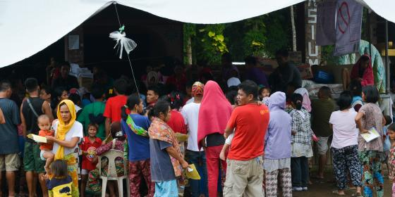 An evacuation center in Lanao del Norte