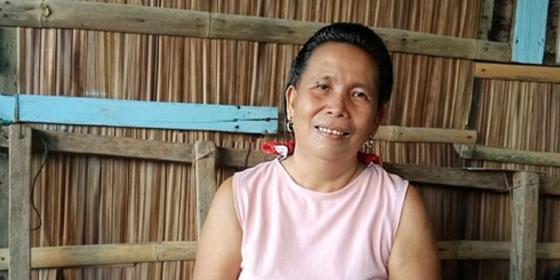 Cristina in her house at Barangay Matriano (Photo: PDRRN)