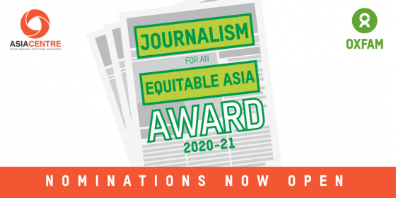 Journalism for an Equitable Asia Award 2020-21