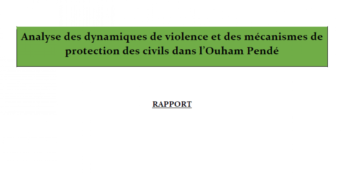 Illustration rapport - Violences et protection dans l'Ouham-Pendé