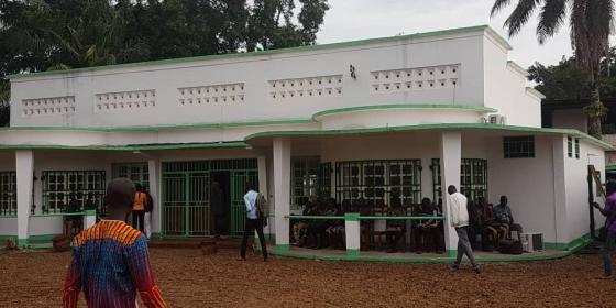 La Maison de la société civile centrafricaine ouvre ses portes à Bangui. Elle est le fruit d'un consortium entre Oxfam et Bioforce. © Oxfam